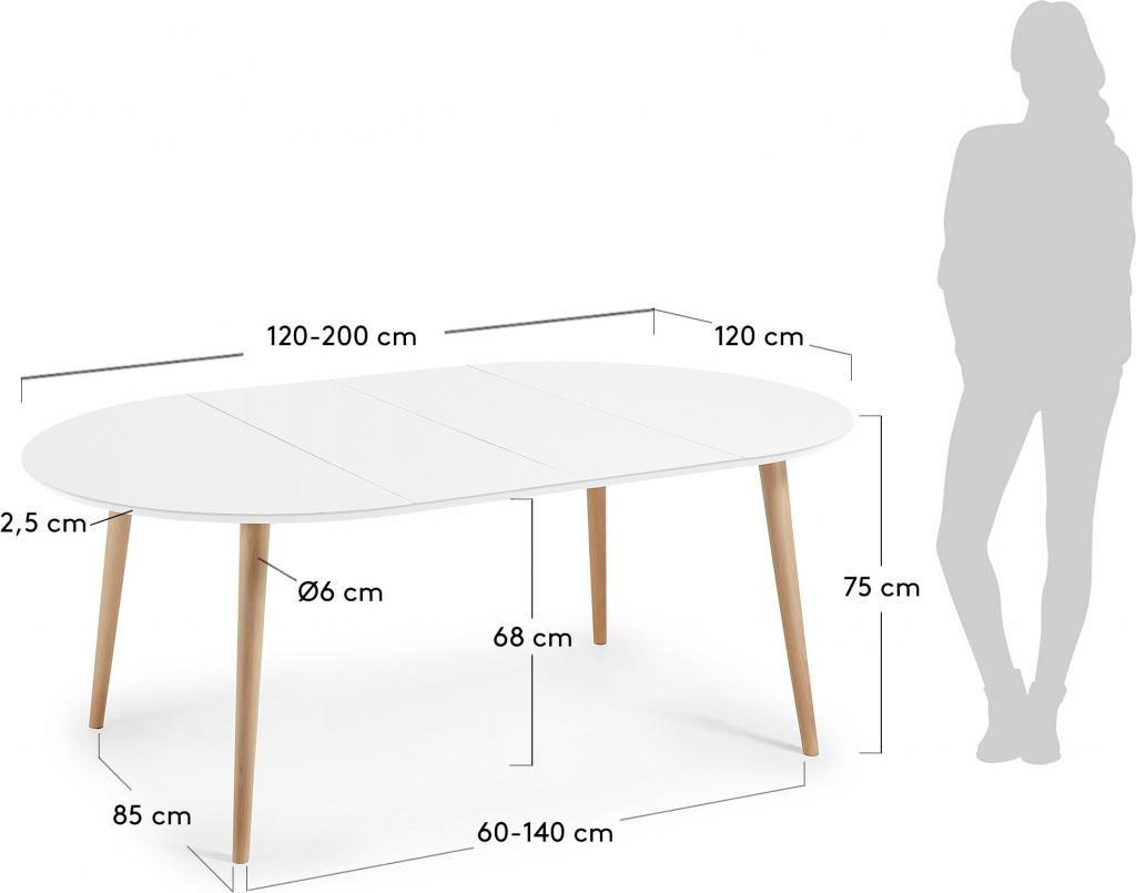 Ronde Witte Tafel 120 Cm.Laforma Eettafel Oqui Rond Verlengbaar 120 200 X 120 Cm Wit La Forma